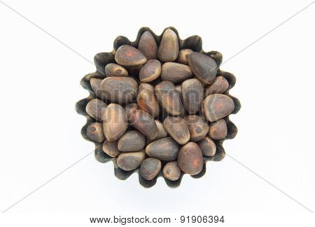 Handful Of Pine Nuts In Figured Form