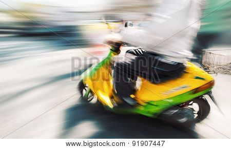 Biker With A Motorcycle