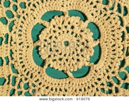 Lace Detail On Green