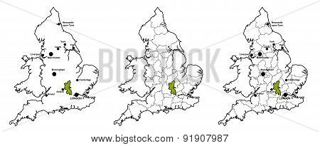 Buckinghamshire located on map of England