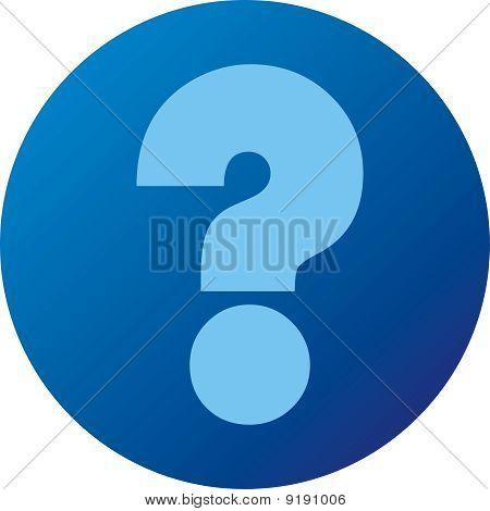 Blue question button