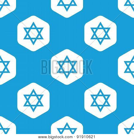 Star of David hexagon pattern