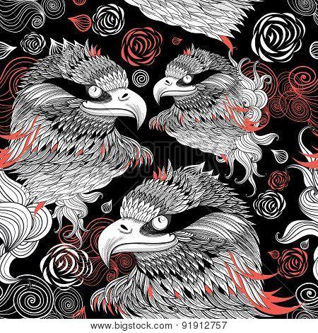 Graphic Design Portraits Of Eagles