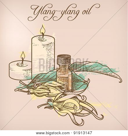 Ylang-ylang Essential Oil And Candles