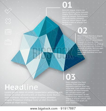 Abstract Triangle Infographic