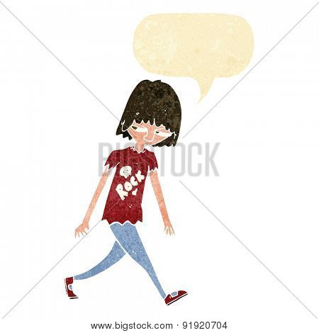 cartoon teenager with speech bubble