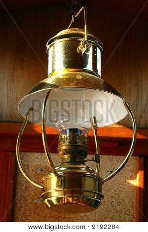 Golden Ship Lantern