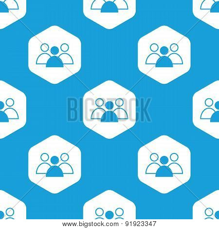 Group leader hexagon pattern