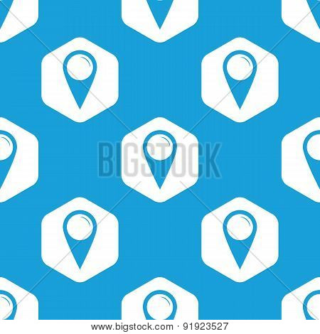 Map pointer hexagon pattern