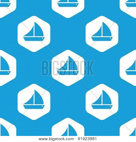 Sailing ship hexagon pattern