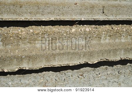 Stock of concrete beams