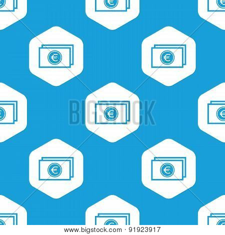 Euro bill hexagon pattern