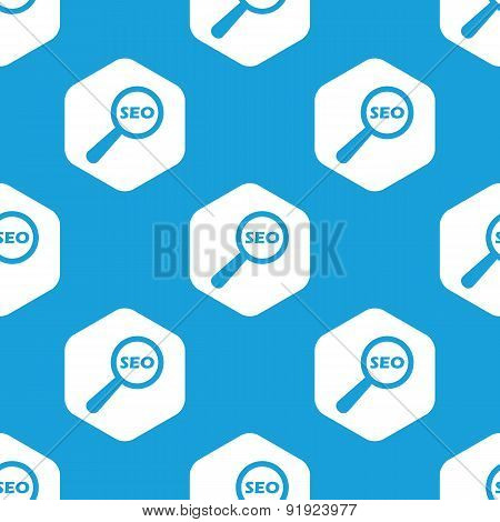 SEO search hexagon pattern