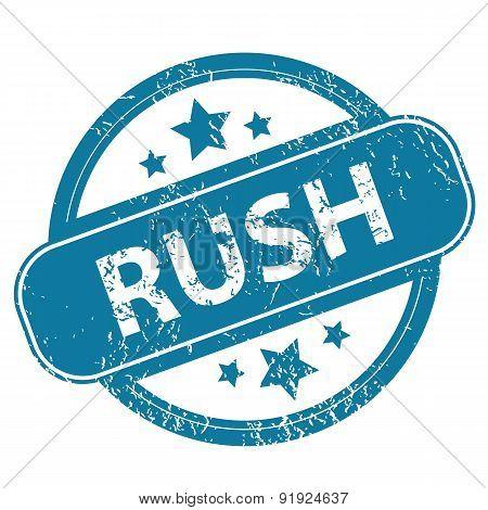 RUSH round stamp