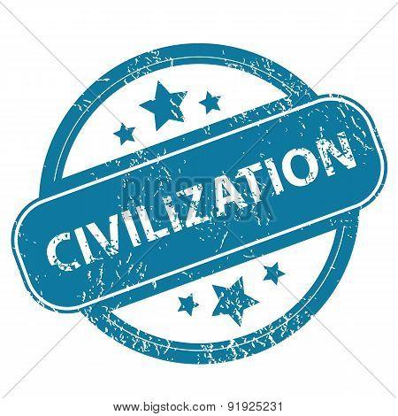 CIVILIZATION round stamp