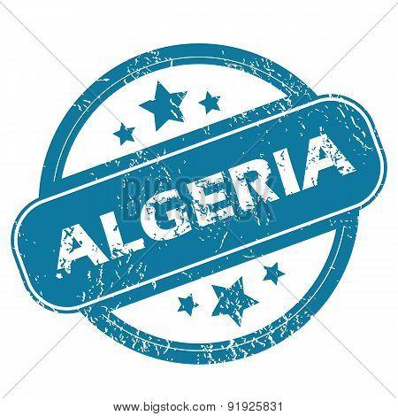 ALGERIA round stamp
