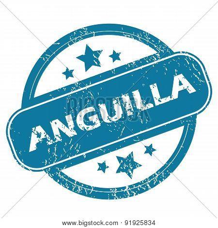 ANGUILLA round stamp