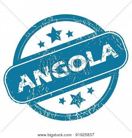 ANGOLA round stamp