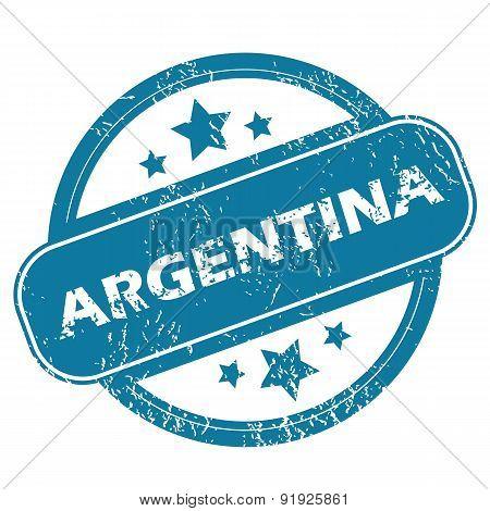 ARGENTINA round stamp