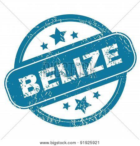 BELIZE round stamp