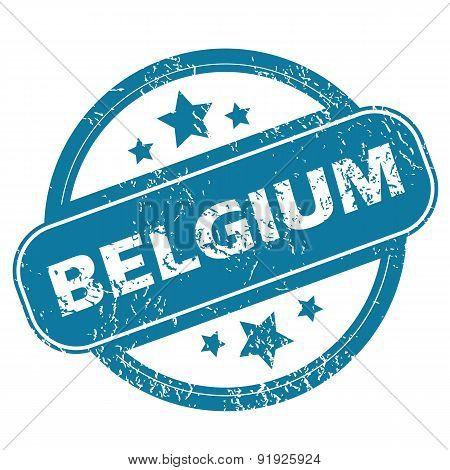 BELGIUM round stamp