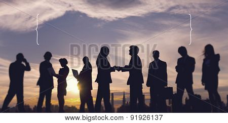 Business People Meeting Handshake Deal Agreement Concept