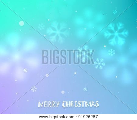 Lilac And Turquoise Winter Horizontal Background