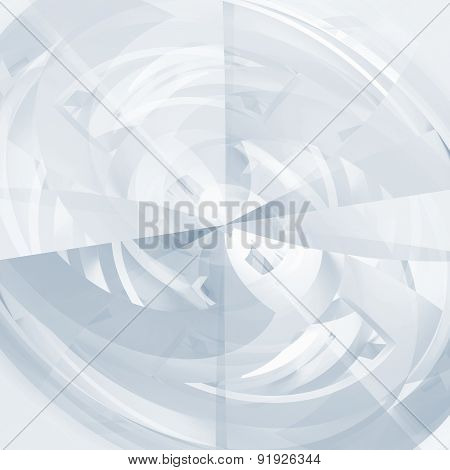 Blue And White Abstract 3D Illustration Background