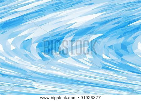 Abstract Chaotic Bright Blue Digital Background Texture