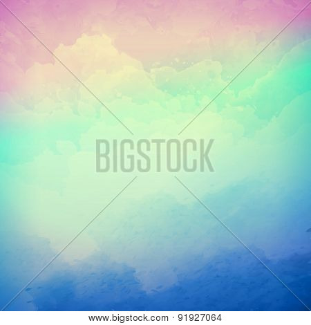 Abstract vector cloudy sky background
