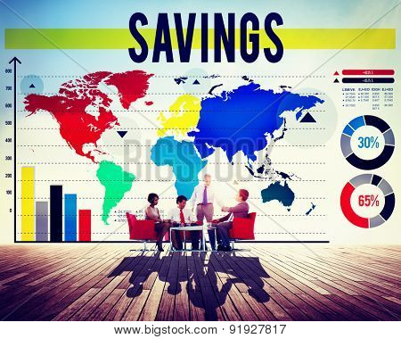 Savings Accounting Banking Economy Financial Concept