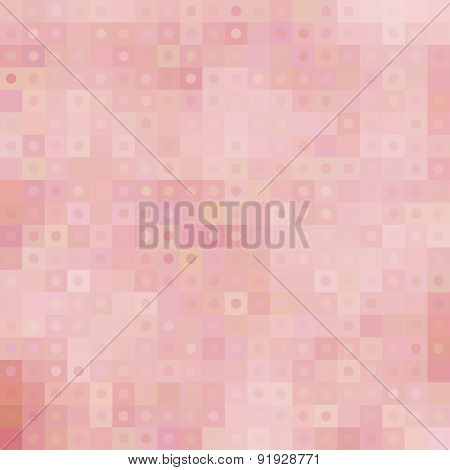 Pastel Mosaic Pattern With Squares And Circles