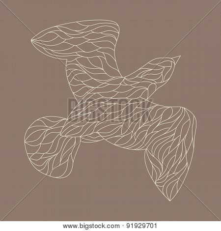 Line drawings of bird