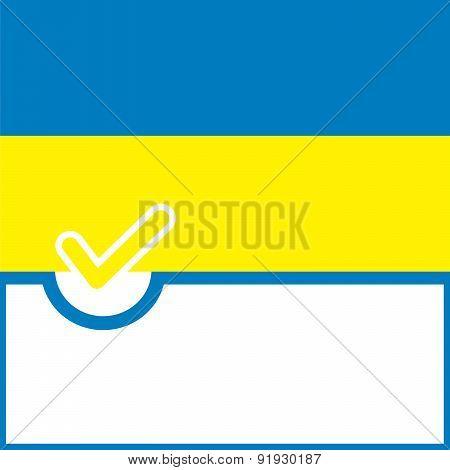Voting Symbol Ukraine Flag