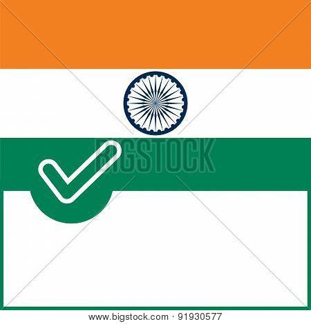 Voting Symbol India Flag