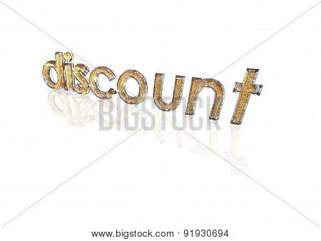 Word discount made from percentage symbols.