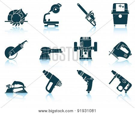 Set Of Electrical Work Tool Icon