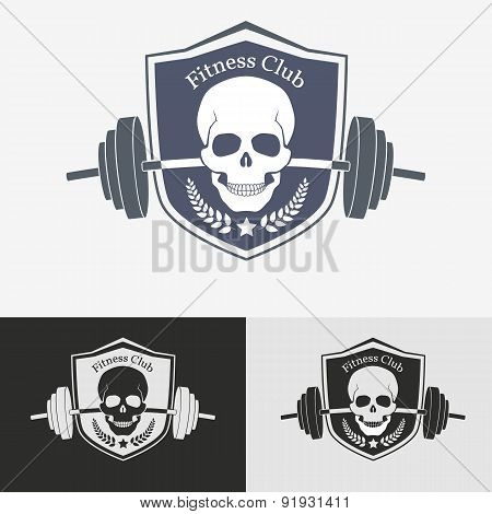 Athletic gym logo concept.