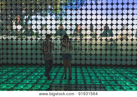People Visiting Spain Pavilion At Expo 2015 In Milan, Italy