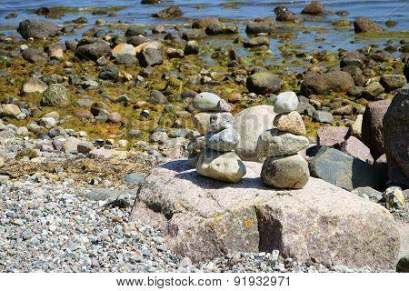 Stacks Of Pebble Stones