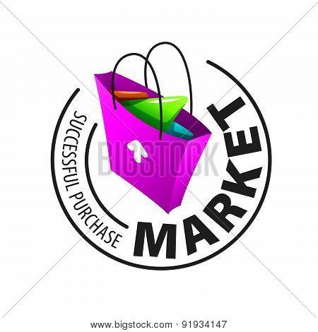 Round Vector Logo Shopping Bag