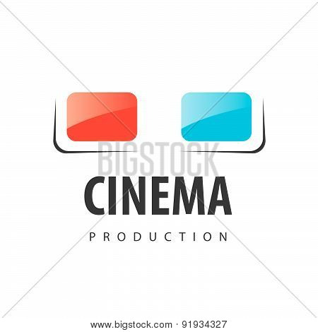 Vector Logo Glasses For Viewing 3D Movies