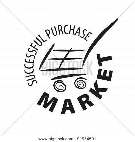Vector Logo Shopping Cart In A Store