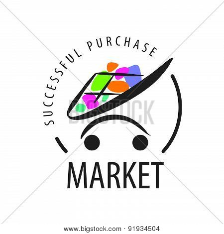 Vector Logo Shopping Trolley Of Goods