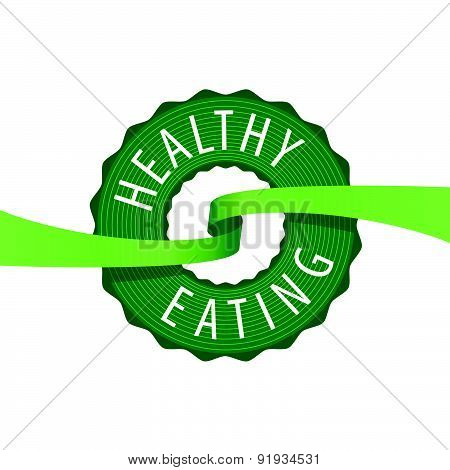 Vector Logo Stamped Healthy Eating