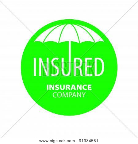 Vector Logo Umbrella For Insurance Company