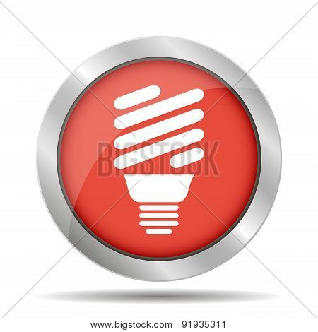 Vector Energy Saving Fluorescent Light Bulb Icon