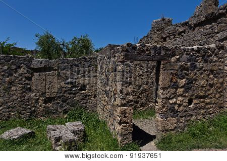 Excavated Ruins Of A Typical House In Pompeii