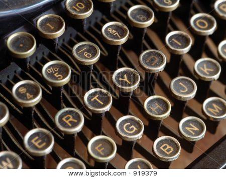 Teclas de máquina de escribir antigua