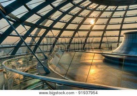 Inside The Reichstag Dome.